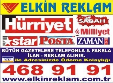 Ankara Gazete Hurriyet Seri Ilan Servisi Burosu